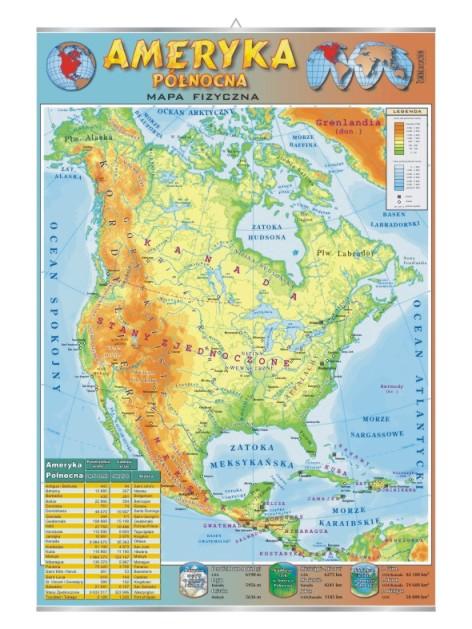 Ameryka Polnocna Mapa Fizyczna Visual System