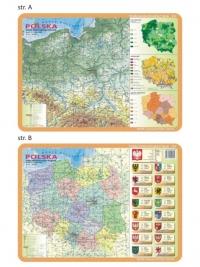 MAPA POLSKI - podkładka edukacyjna 062