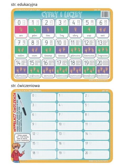 Cyfry i liczby - edukacyjna podkładka ćwiczeniowa - ABC 06